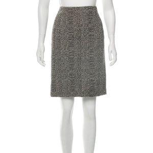 Dolce & Gabbana tweed boucle alpaca pencil skirt